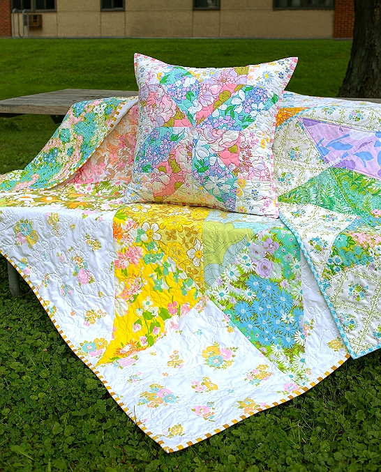 Cozy how to use vintage sheets for quilts quilting digest Unique Vintage Sheet Quilt Gallery