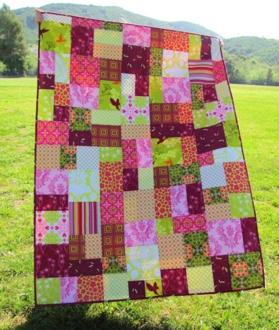 Cozy patchworkquiltpatterns 50x70 patchwork quilt in random Unique Random Patchwork Quilt Pattern Gallery