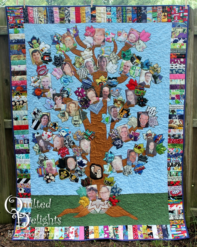 Cozy quilted delights family tree quilt complete 11 Interesting Family Tree Quilt