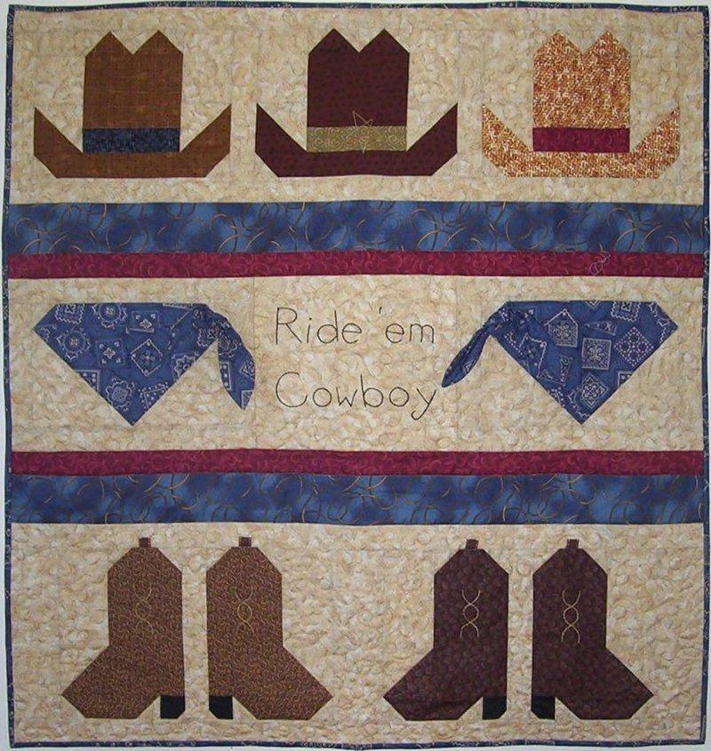 Cozy ride em cowboy boy ba quilt pattern boys quilt patterns 10 Cool Western Themed Quilt Patterns