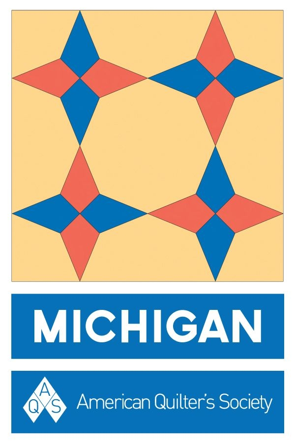 Cozy state block michigan aqs blog barn quilt patterns 9 Beautiful Vintage Quilt Blocks State By State Gallery