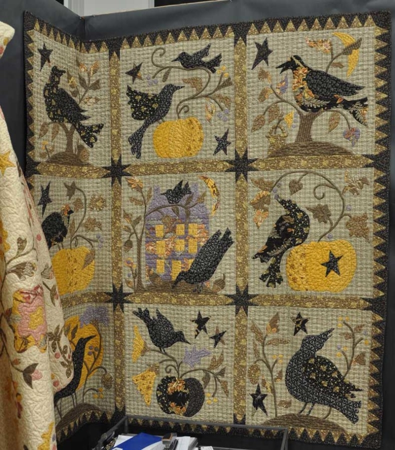 Cozy the raven quilt pattern book blackbird designs sold barefoot quilting 9 Elegant Blackbird Designs Quilt Patterns