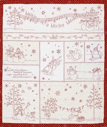 Cozy winter wonderland crabapple hill studios patchwork 11 Cool Winter Wonderland Quilt Pattern