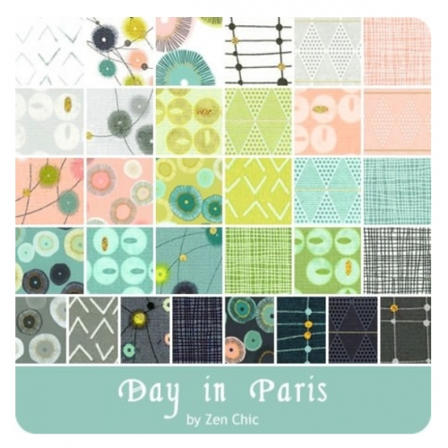 day in paris layer cake 1680 lc zen chic for moda New Stylish Layer Cake Quilting Fabric