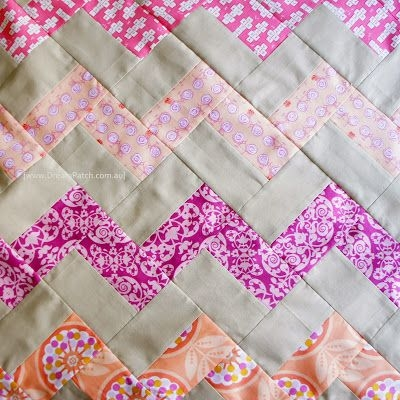dreampatch chevron pattern with no triangles a free Beautiful Chevron Quilt Pattern No Triangles Inspirations