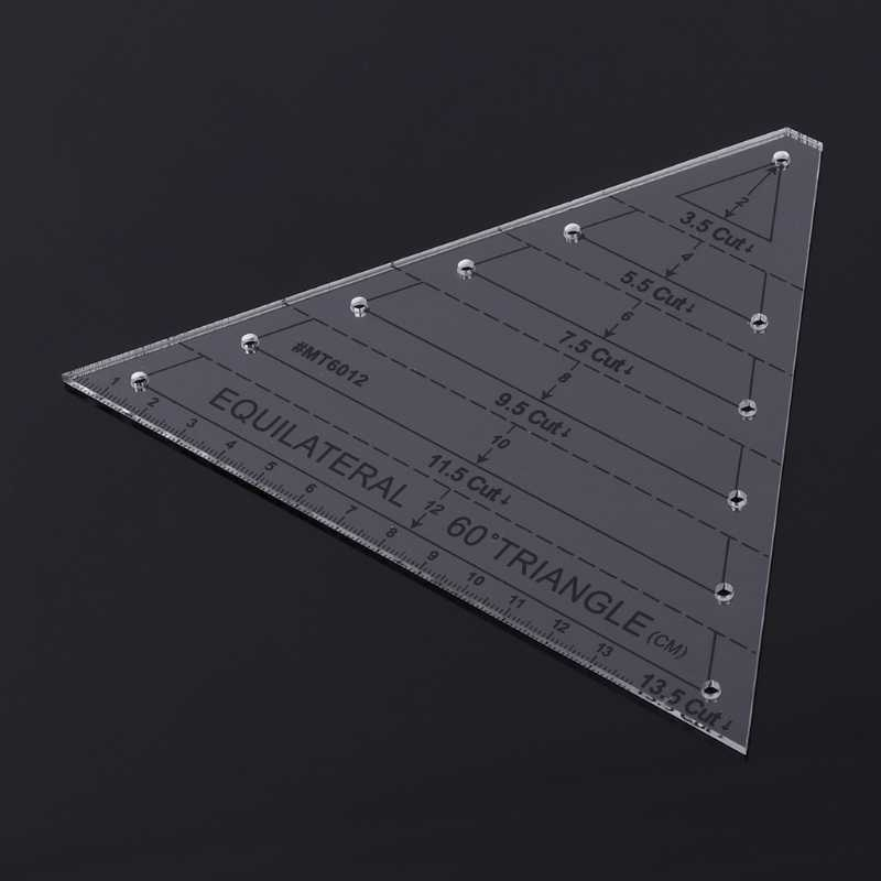 Elegant 60 degree equilateral triangle quilting ruler template diy sewing craft tool 10 Cool Quilting Triangle Ruler
