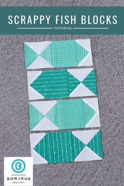 Elegant a fish quilt block and some scrap quilt ideas bonjour quilts 11 Unique Fish Quilt Block Pattern