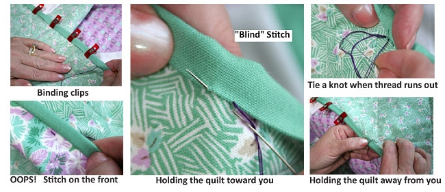 Elegant binding basics part 5 hand stitching the binding to the back 9 Elegant Sewing Edging On Quilt Inspirations
