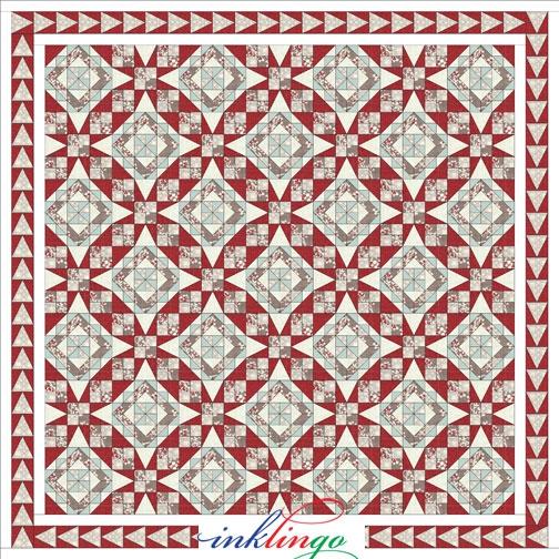 Elegant bonnie hunters celtic solstice mystery inklingo clue 06 9 New Bonnie Hunter Quilt Patterns