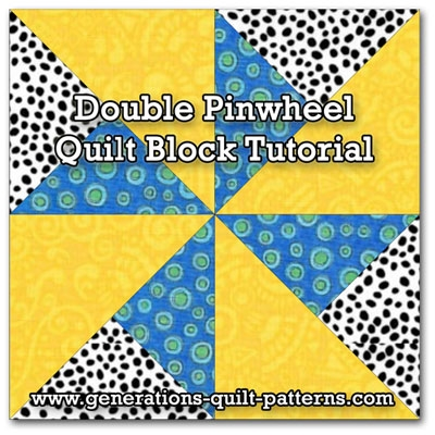 Elegant double pinwheel quilt block 3 4 5 6 and 8 block sizes 9 Unique Pinwheel Quilt Block Pattern Gallery