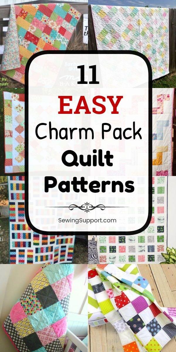 Elegant free quilt patterns using charm packs 5 inch squares 9 Beautiful Quilt Patterns Using Charm Squares Inspirations