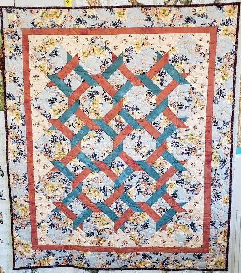 Elegant garden twist quilt kit botanymoda 90 x 110 Cozy Garden Twist Quilt Pattern Inspirations