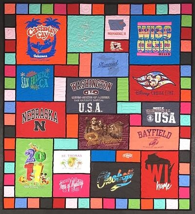 Elegant here it is the stained glass t shirt quilt 10 Interesting Patterns For TShirt Quilts Gallery