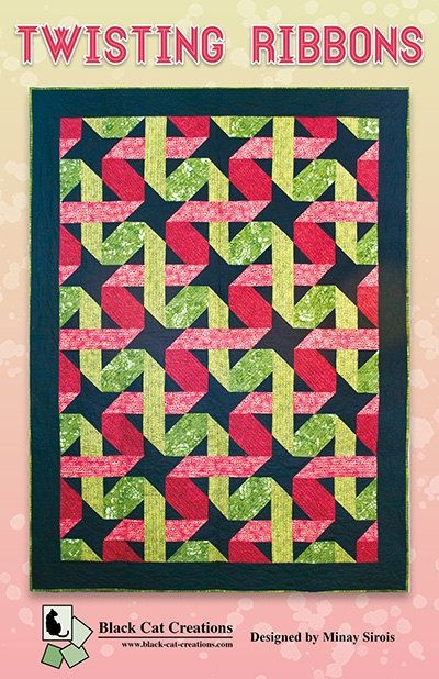 Elegant instant download twisting ribbon quilt pattern pdf e pattern 11 Beautiful Twisted Ribbon Quilt Pattern Gallery