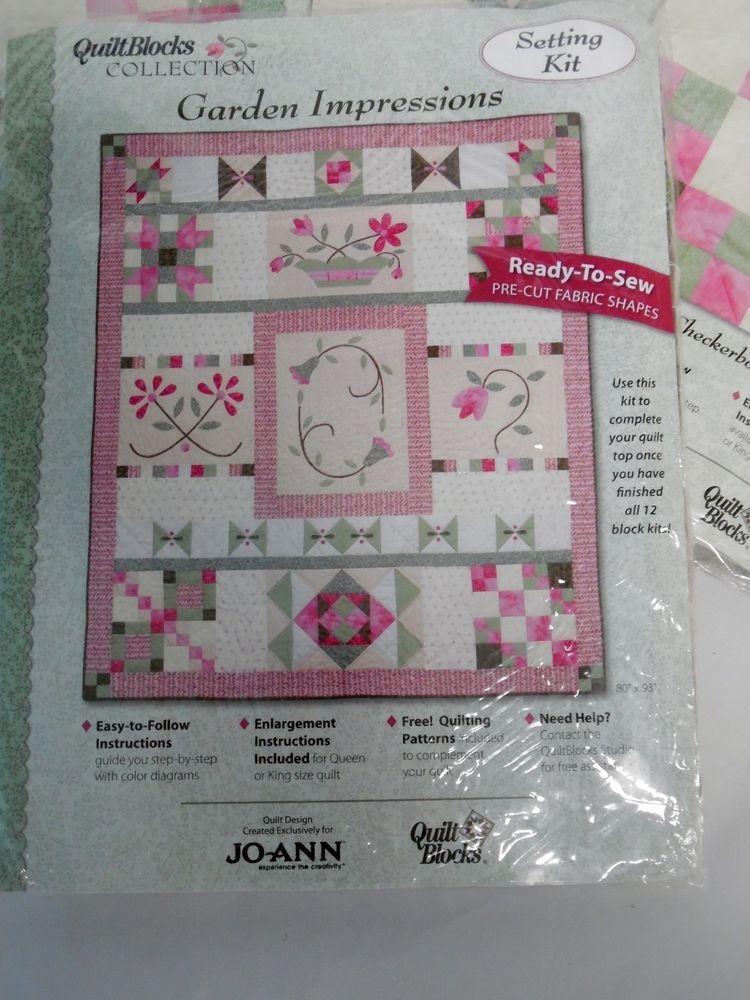 Elegant joann fabric garden impressions 12 precut quilt blocks plus 10   Stylish Baby Quilt Kits Joann Fabrics Inspirations