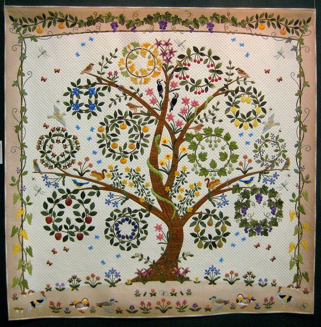 Elegant keiko miyauchi family tree quilt tree quilt quilt festival 10 Unique Tree Of Life Quilt Pattern Applique Gallery
