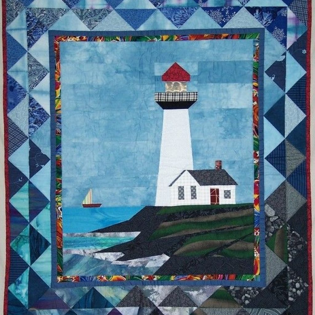 Elegant lighthouse quilt pattern pigeon point lighthouse quilted 9 Cool Lighthouse Quilt Patterns Gallery