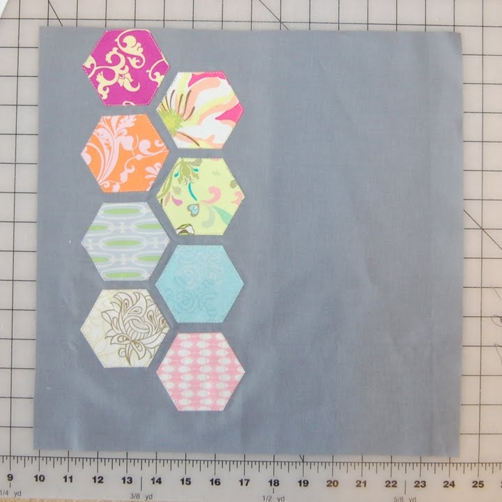Elegant modern hexagon quilt block tutorial 11 Modern Modern Hexagon Quilt Patterns Inspirations
