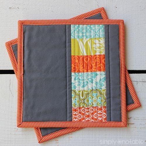 Elegant modern quilted potholder quilted potholder pattern 9 Elegant Quilted Potholder Pattern Inspirations