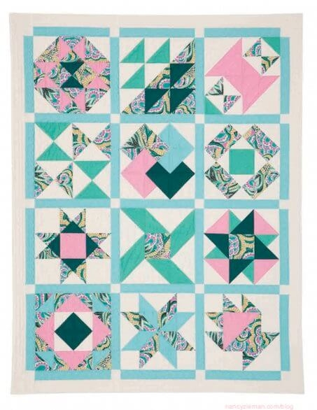 Elegant no hassle 12 square triangle quilt blocks nancy zieman blog 9 New 1 2 Square Triangle Quilts