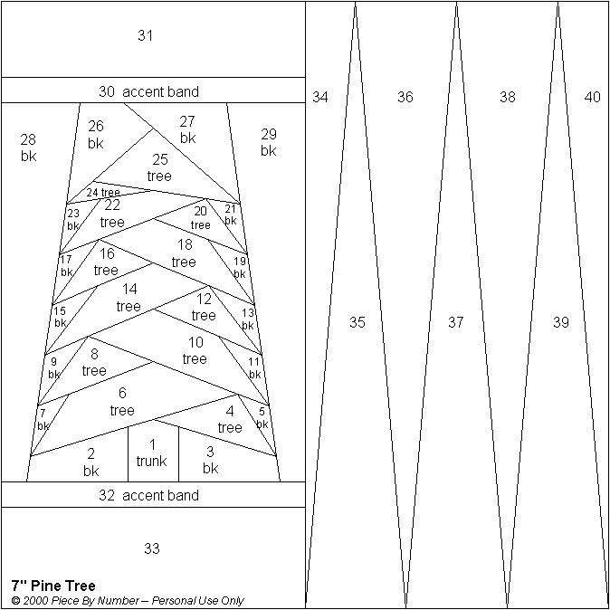 Elegant pine tree free paper piecing quilt block pattern 11 Unique Foundation Piecing Quilt Patterns Inspirations