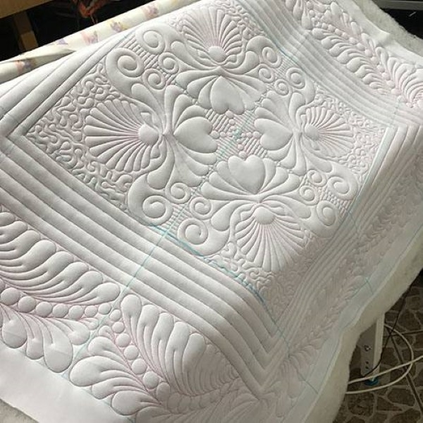 Elegant sdql 0011 shell whole cloth 9 Beautiful Whole Cloth Quilt Patterns Inspirations