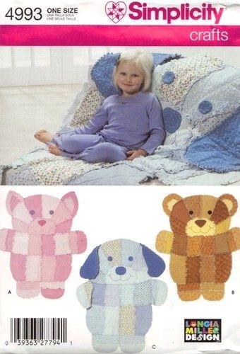 Elegant simplicity pattern 4993 rag quilt throw dog cat bear ebay 10 Unique Simplicity Quilt Patterns