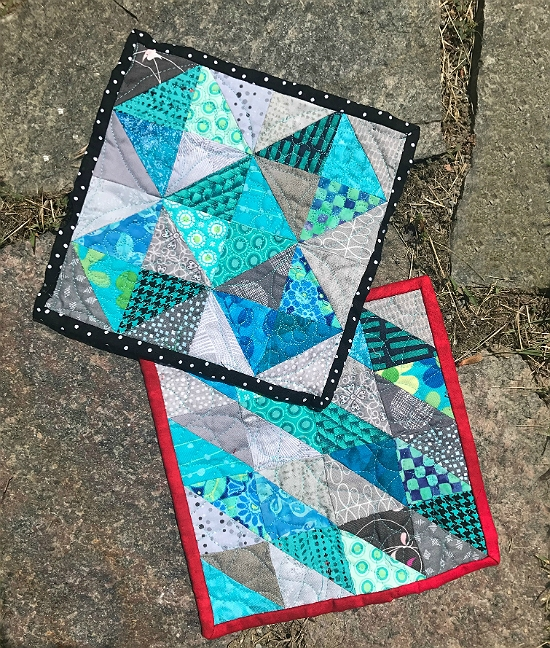 Elegant speed piece half square triangles with no two alike Interesting Scrappy Half Square Triangle Quilt Patterns Gallery