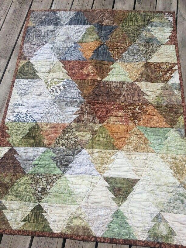Elegant tasalating trees made with northcott stonehenge woodland 9   Stonehenge Fabric Quilt Patterns Inspirations