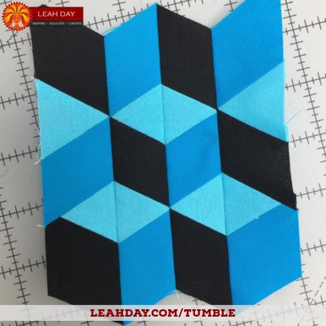 Elegant tumbling blocks quilt tutorial no y seams free motion 11 Elegant Tumbling Blocks Quilt Pattern Template Gallery