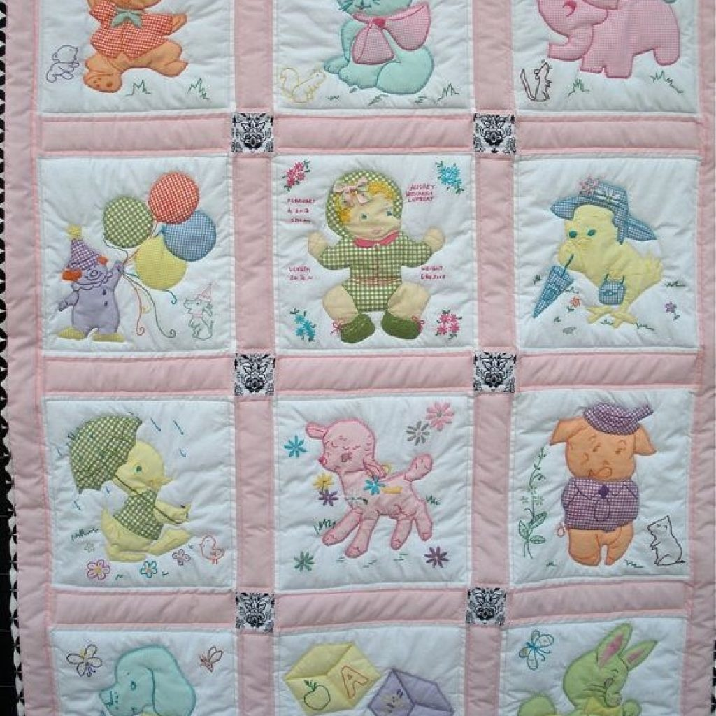 Elegant vintage ba quilt free shipping to continental us etsy in 10   Vintage Baby Quilt Pattern