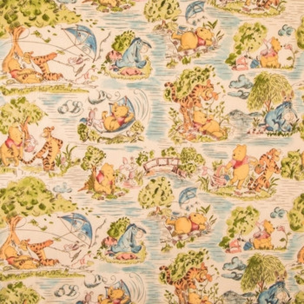 Elegant winnie the pooh toile cotton calico fabric hob lob 786798 9 Elegant Winnie The Pooh Quilting Fabric Gallery