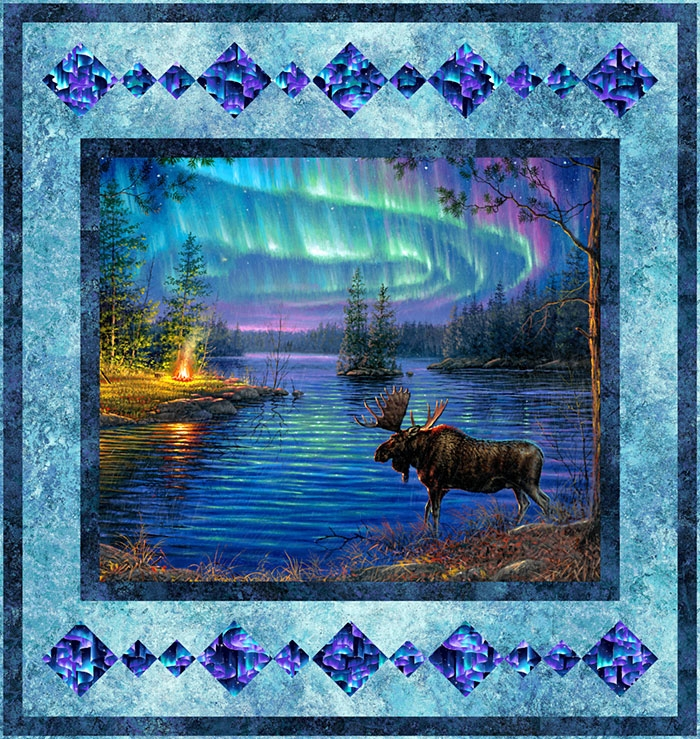 free pattern northern lights shimmer equilter 10 New Northern Lights Quilt Pattern