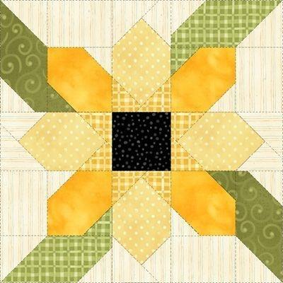 image result for sunflower quilt block patterns 12 9   Sunflower Quilt Block Pattern