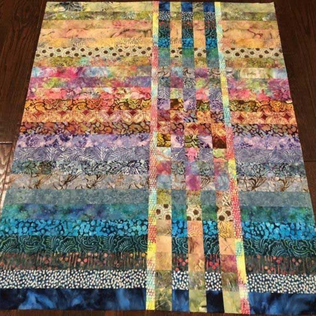 Interesting 25 picturesque easy batik quilts patterns free quilts Batik Jelly Roll Quilt Patterns