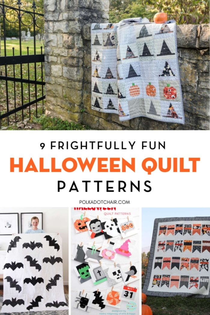 Interesting 9 frightfully fun halloween quilt patterns the polka dot chair 11 Modern Halloween Quilts Patterns