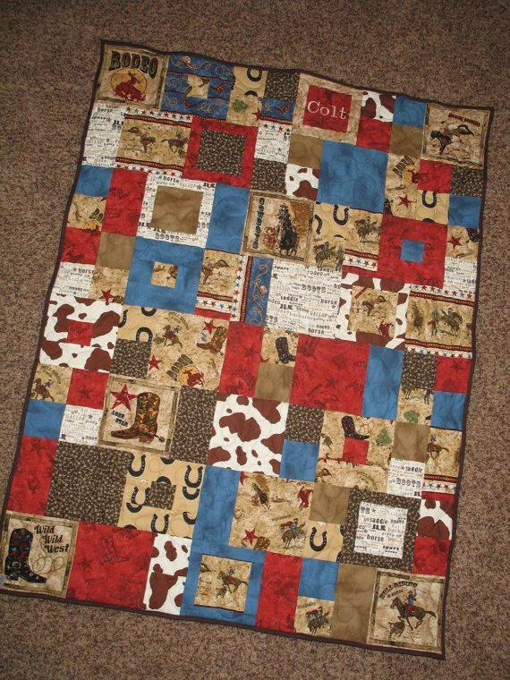 Interesting custom order western cowboy rodeo ba 10 Cool Western Themed Quilt Patterns