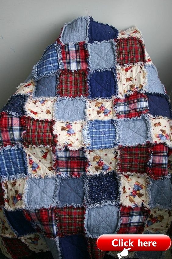 Interesting diy denim rag quilt instructions easy video tutorial quilt 10 Interesting Denim Rag Quilt Patterns