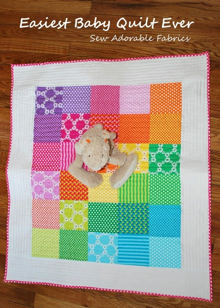 Interesting easiest ba quilt ever big diy ideas ba quilt 9 Cozy Baby Patchwork Quilt Patterns For Beginners Inspirations