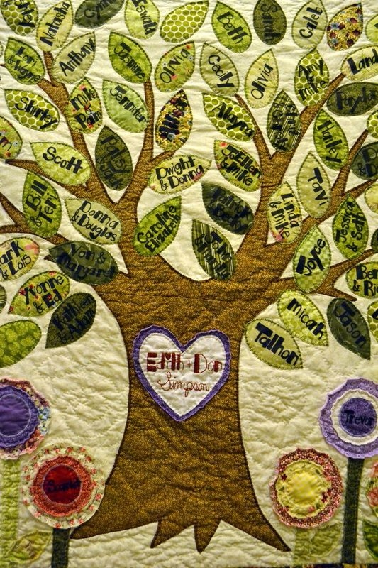 11 Interesting Family Tree Quilt