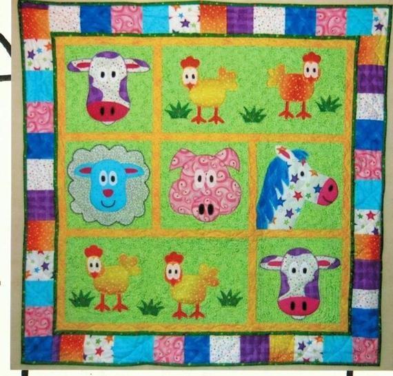 Interesting farm animals ba quilt pattern wallhanging Unique Farm Animal Quilt Patterns Inspirations