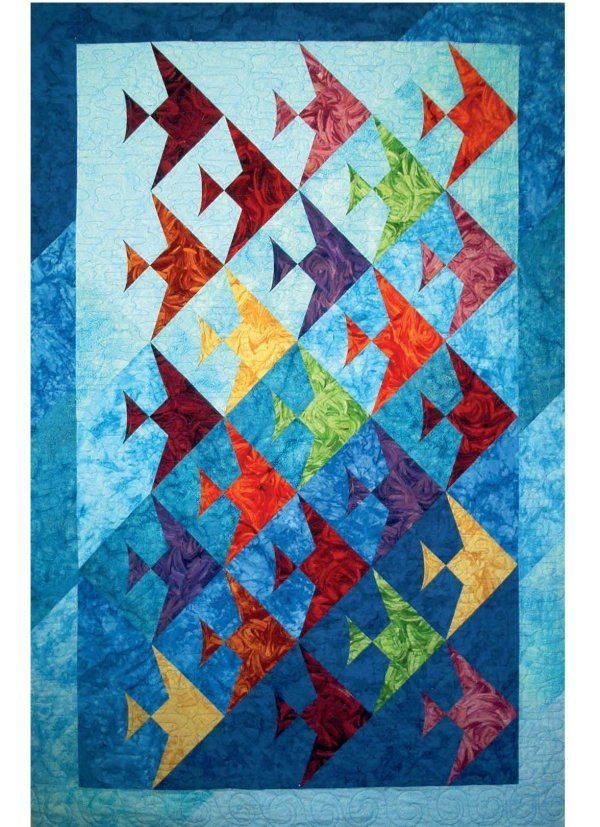 Interesting fish quilt pattern how to choose the right pattern fish 11 Unique Fish Quilt Block Pattern