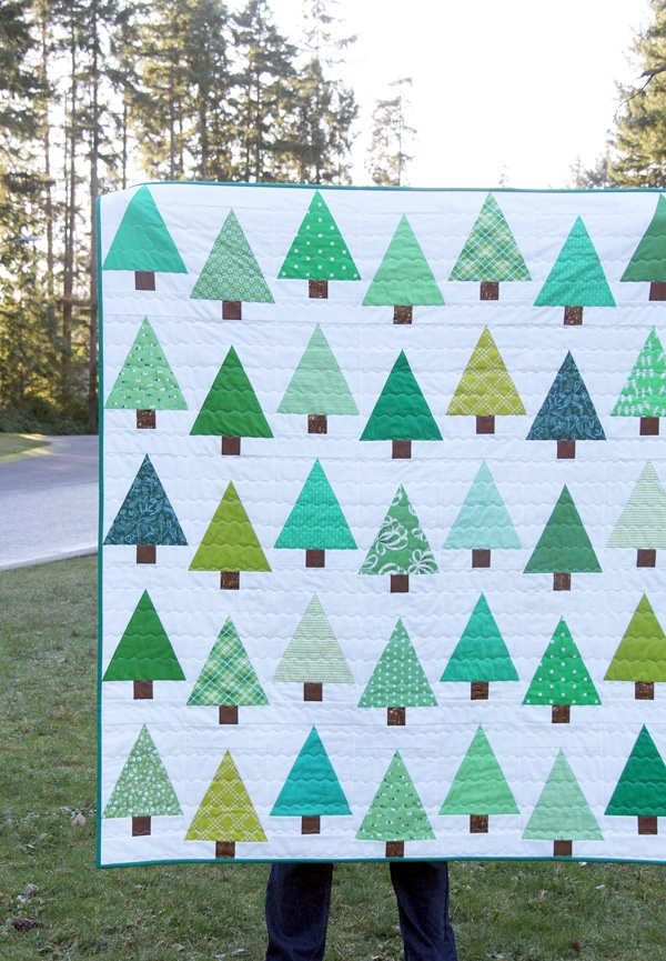 Interesting free christmas tree patterns 11 Unique Tree Quilt Block Pattern