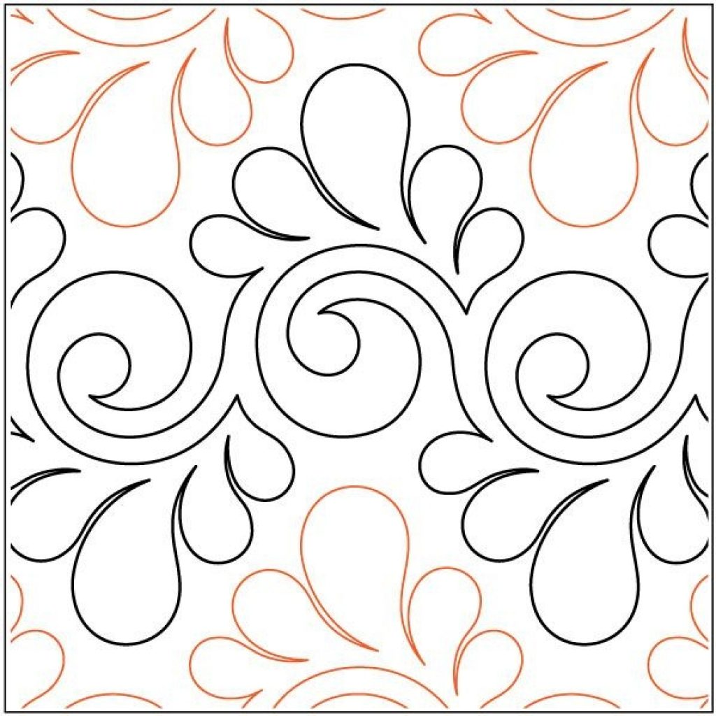 Interesting fresco feathers quilting pantograph pattern lorien 11 Stylish Pantograph Patterns For Longarm Quilting Gallery