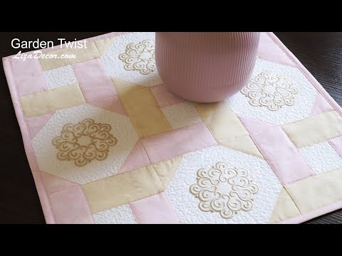 Interesting garden twist embroidery easy to sewing only the basic Cozy Garden Twist Quilt Pattern Inspirations