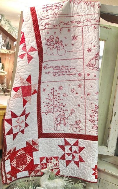 Interesting hollyhill quilt shoppe mercantile llc christmas quilt 11 Cool Winter Wonderland Quilt Pattern