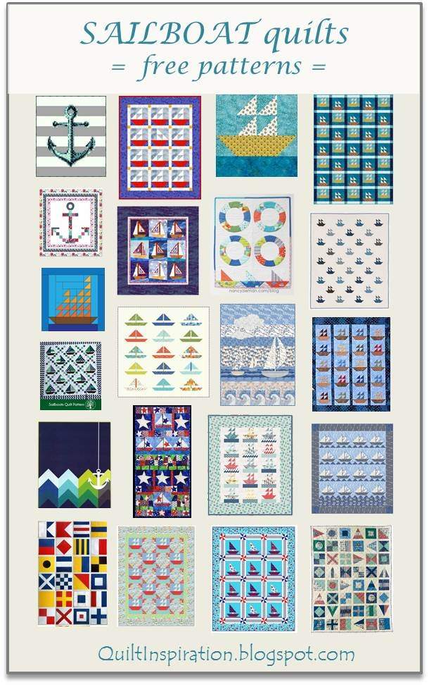 Interesting quilt inspiration free pattern day sailboats 9 Stylish Nautical Quilts Patterns Gallery