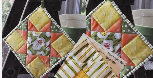 Interesting quilted potholder tutorial for busy quilters quilting cub 9 Elegant Quilted Potholder Pattern Inspirations
