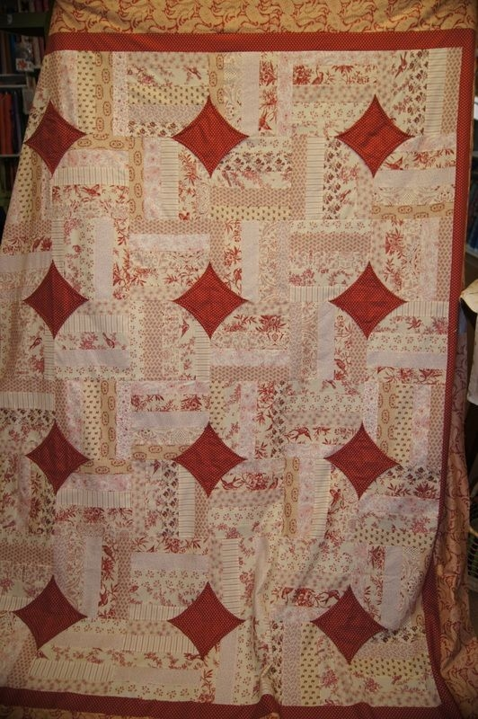 Interesting ruthann gapen brought in the floral fire quilt she made Cozy 10 Minute Quilt Block Pattern