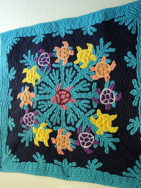 Interesting sea turtles hawaiian quilt style turtle quilt hawaiian 10   Hawaiian Sea Turtle Quilt Patterns